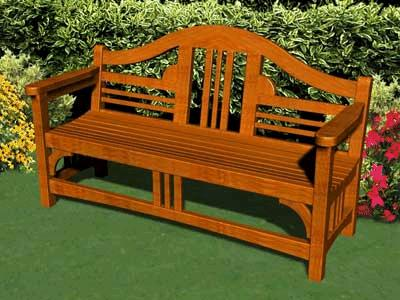 Garden Wood on Garden Bench Plan   Old English Garden Wood Bench Plan