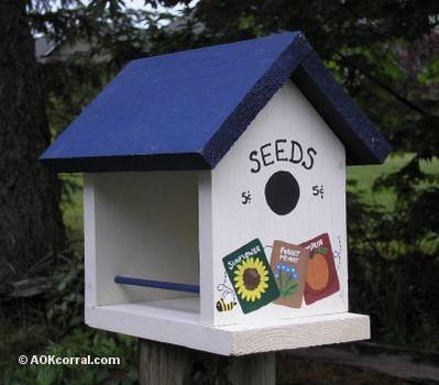 Bird  House with Food