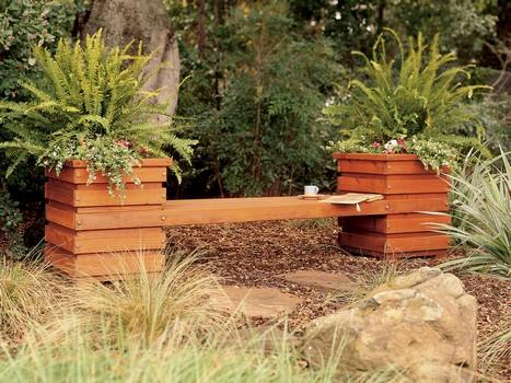 DIY Bench Seat with Planters