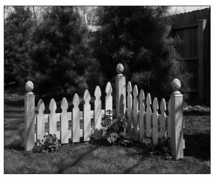 Corner Picket Fence