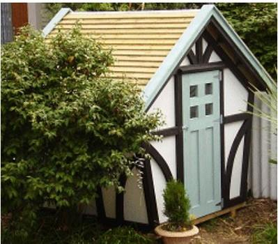 Tudor Style Garden Shed Plans