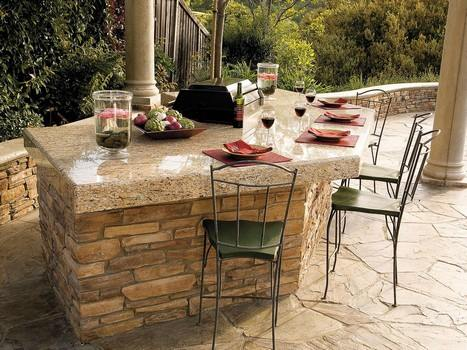 Stone and Granite Outdoor Bar Plans