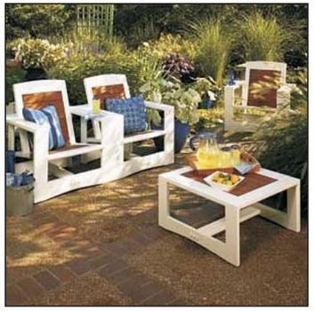 DIY Patio Chair Plans and Table