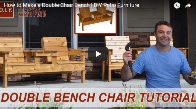 Double-Chair Bench Plans
