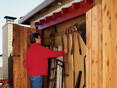 Simple Garden Tool Shed using Free Shed Plans