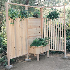 redwood shower bench