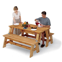 Picnic Table/Bench Combo Plan