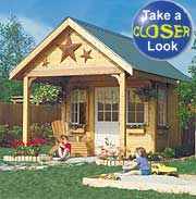 playhouse storage shed plans