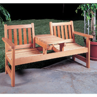 Twinseat bench woodworking plans pdf